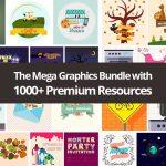 The Mega Graphics Bundle with 1000+ Premium Resources