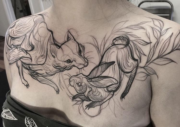 Tattoos that Look like Pencil Drawings