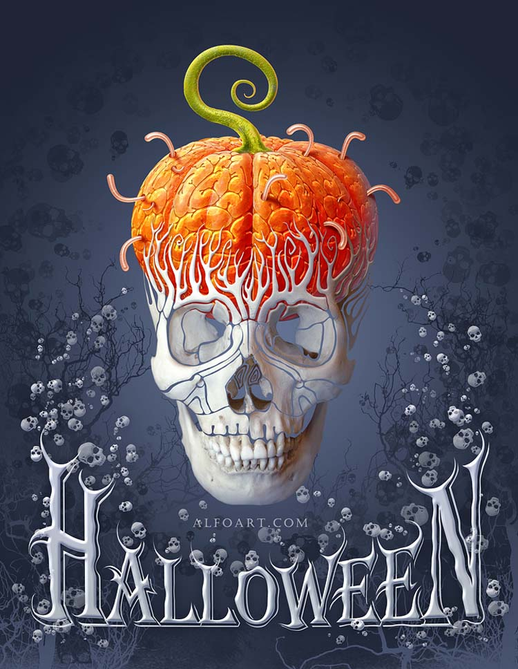 Halloween card by Alfoart