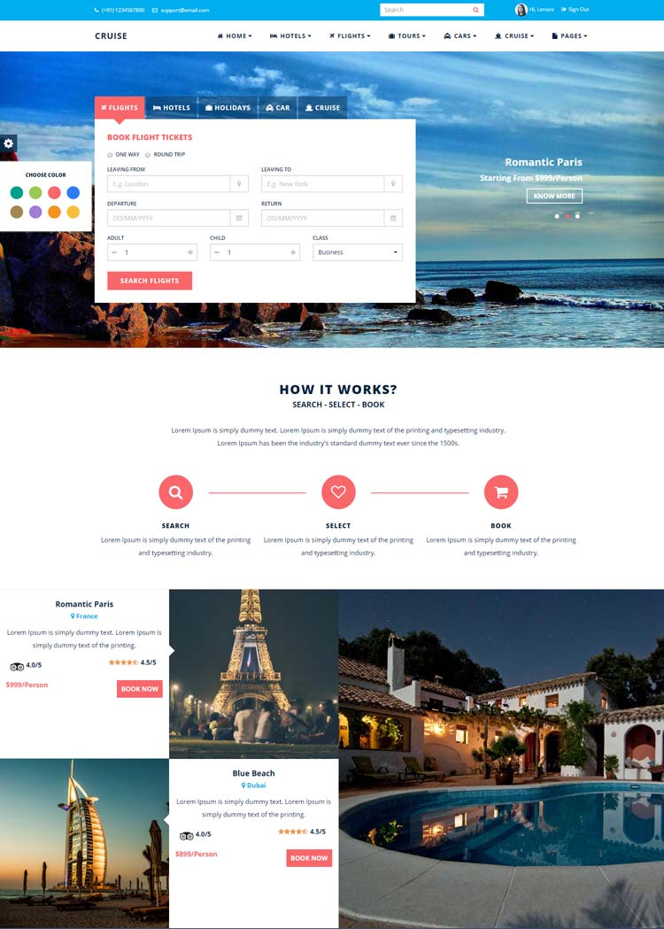 Cruise Responsive Travel Agency Template