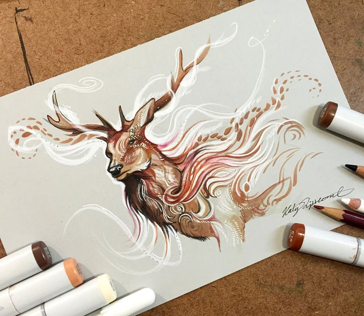 Pencil-and-Marker-Illustrations