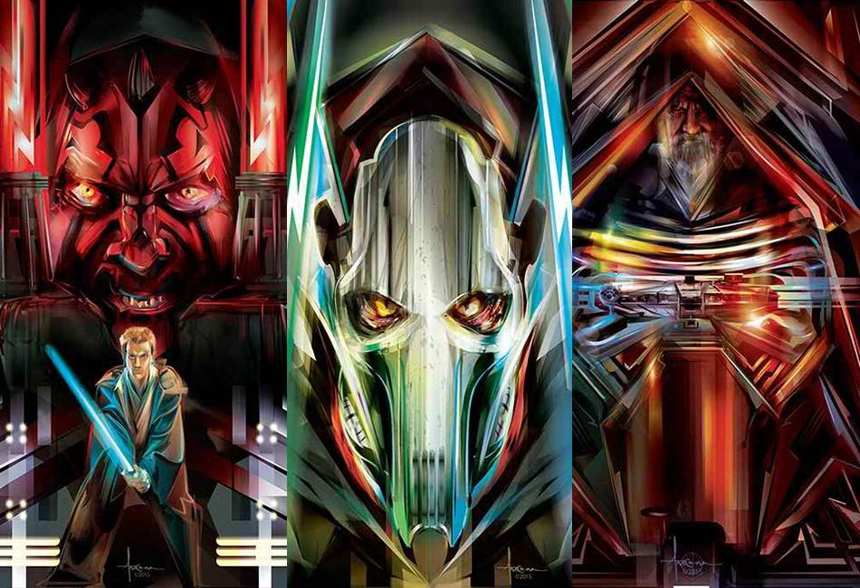 Star Wars Illustrations by Orlando Arocena