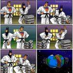 Superman vs Batman Funny Comics by Dragonarte