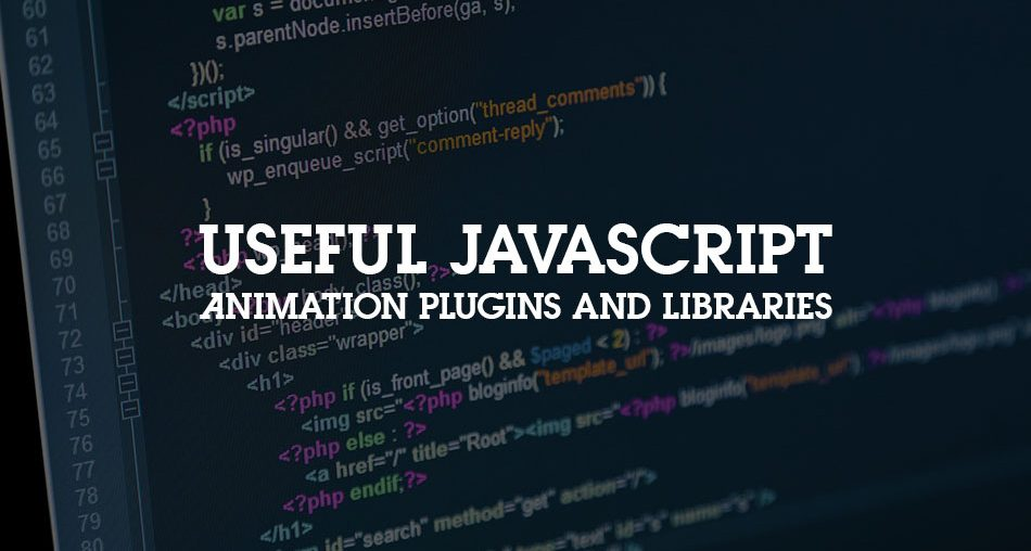 Useful JavaScript Animation Plugins and Libraries