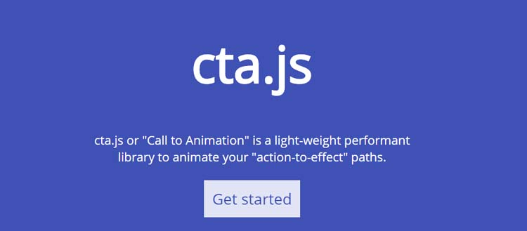 cta.js Animate your action to effect paths