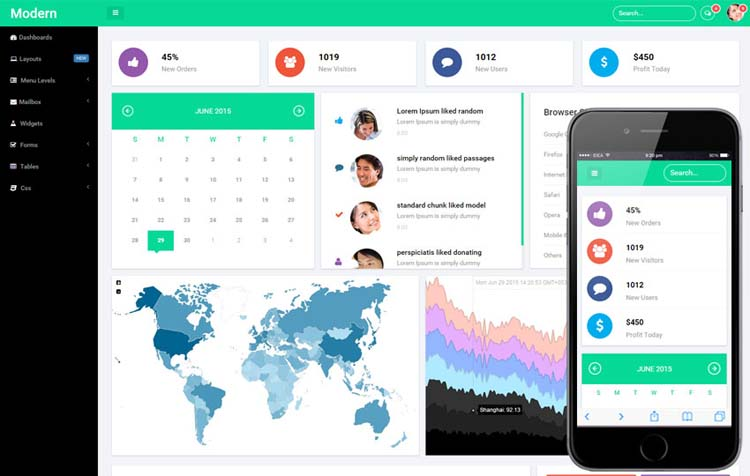 20 admin dashboard templates free download for your web for Admin template free download in php