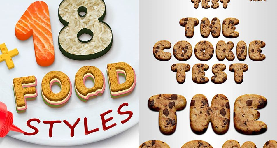 25 Yummy Food Photoshop Styles