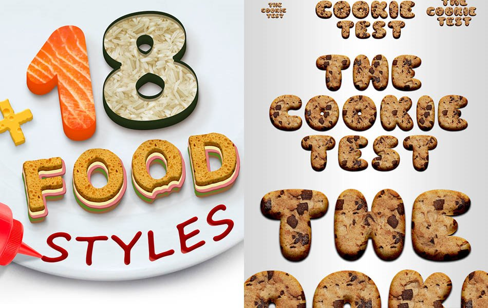 25 Yummy Food Photoshop Styles