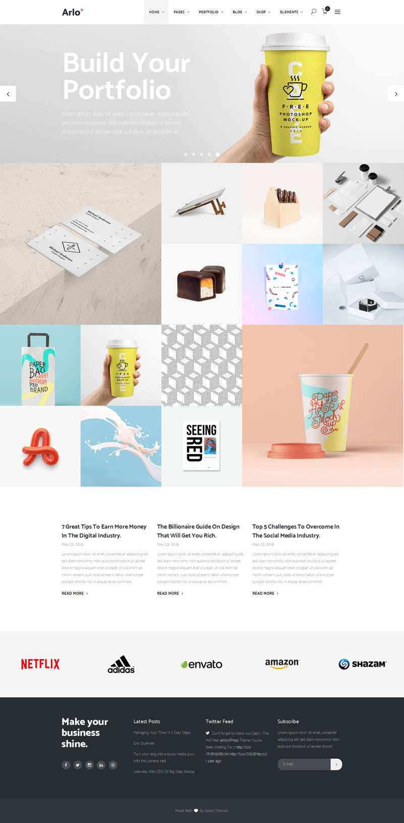 Creative WordPress Portfolio Themes