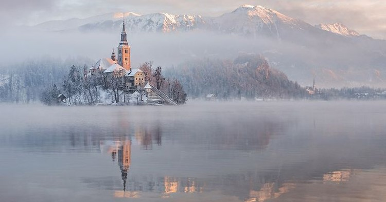 Photography of Lake Bled on Fairytale Winter Morning