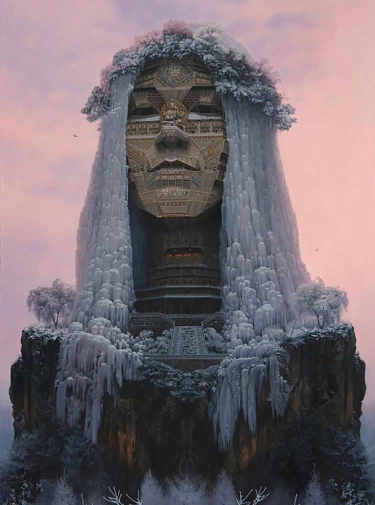 Portraits of Chinese Rockstars Look Similar to Monumental Temples