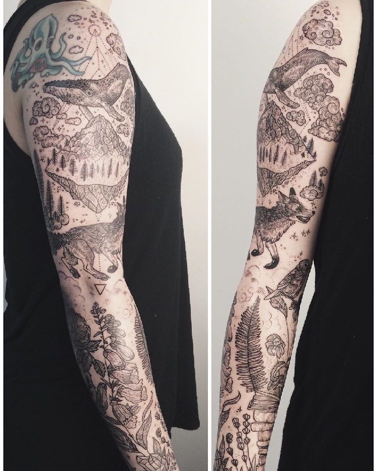 Vintage-Etchings-Tattoo-of-Flora-and-Fauna