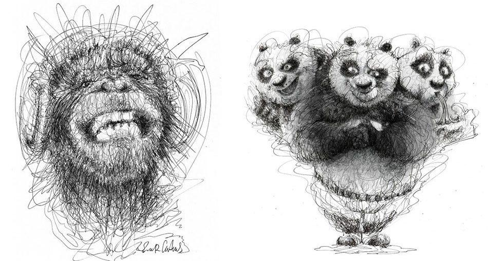 Wonderful Pen Stroke Drawings by Italian Artist Erick Centeno