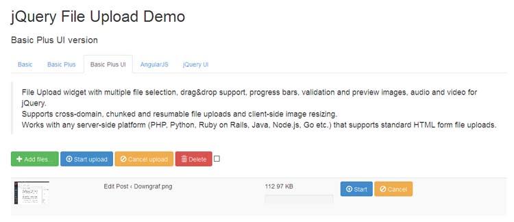 Bootstrap File Upload