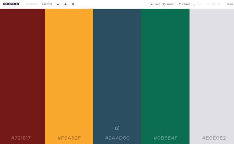 random color palette generator