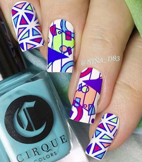 Abstract Nail Art Ideas For Nail Art Lover