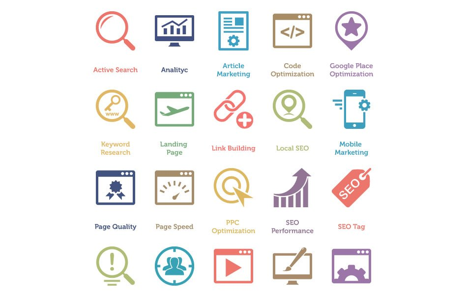 160 Free SEO and Internet Marketing Icons 1