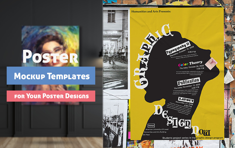 10 Free Poster Mockup Templates