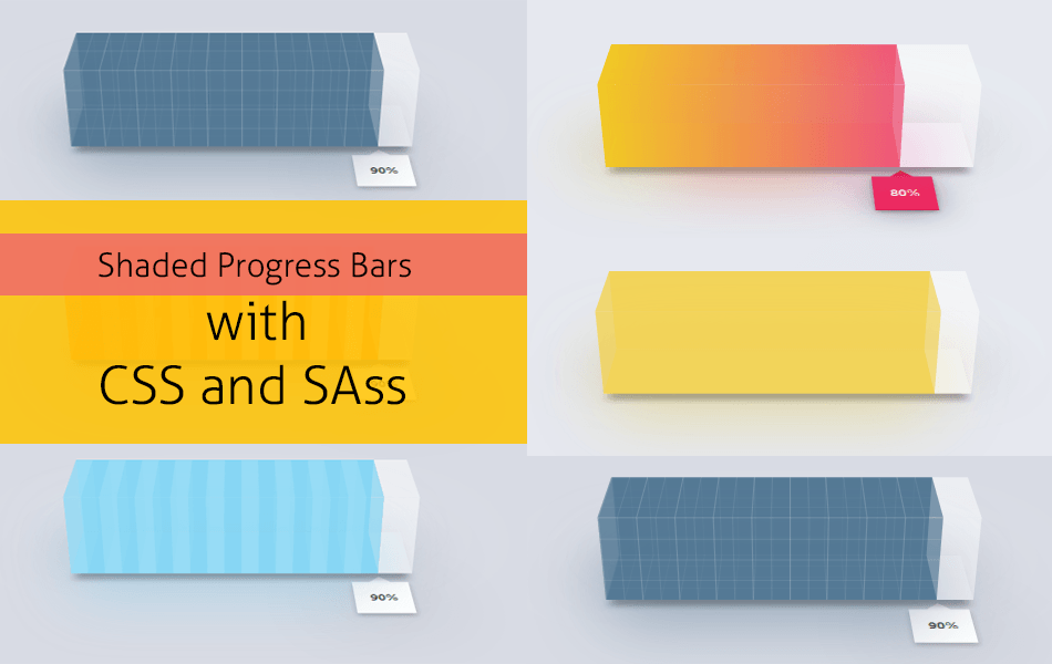 Shaded Progress Bars made with CSS and Sass 9