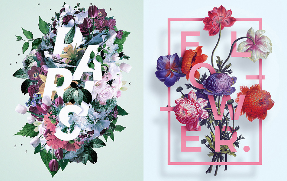Floral Typography Designs