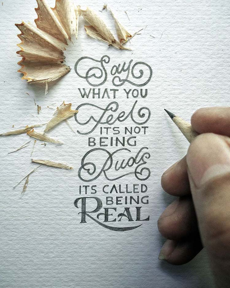 Inspirational Miniature Calligraphy