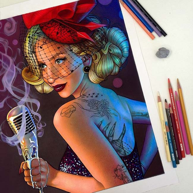 Vibrant-Pencil-Drawings