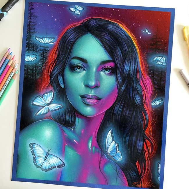 Vibrant Pencil Drawings