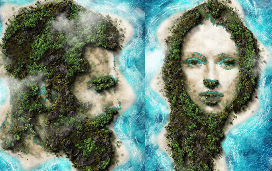 Beautiful Island Photoshop Action that Turn Your Image Into Island