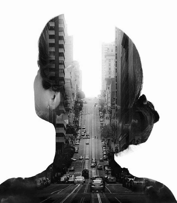 Blissful Double Exposure Portraits