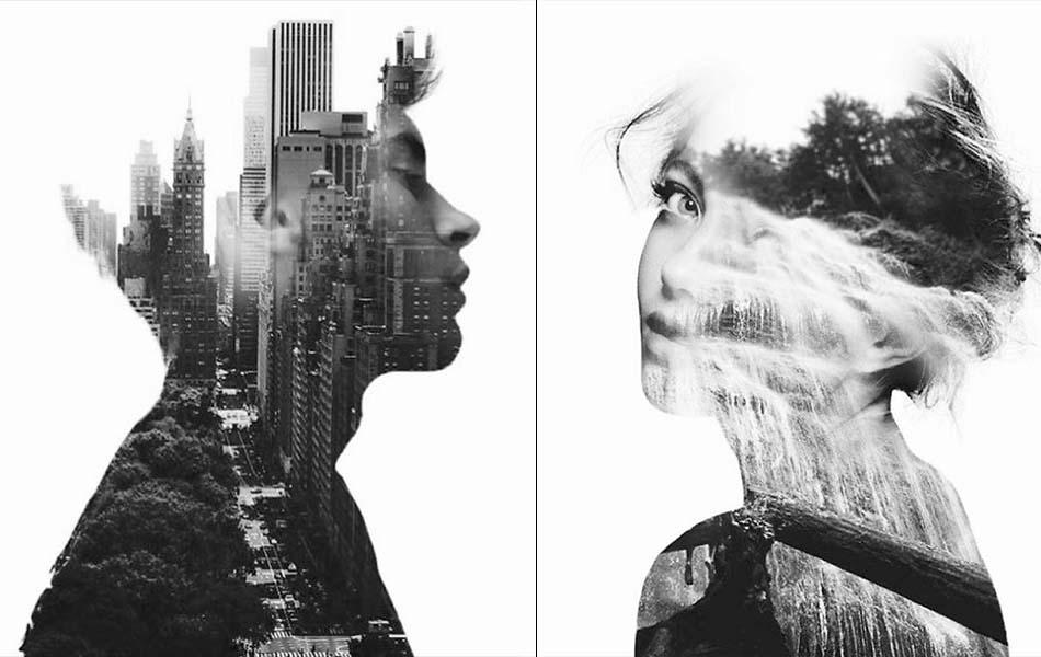 Blissful Double Exposure Portraits