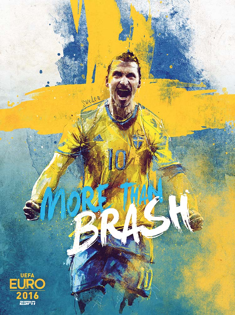 EURO 2016 Teams Illustrations