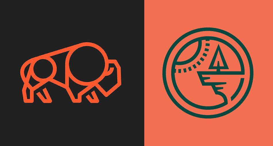 30 Intricate Monoline Logo Designs Will Make You Inspire 35
