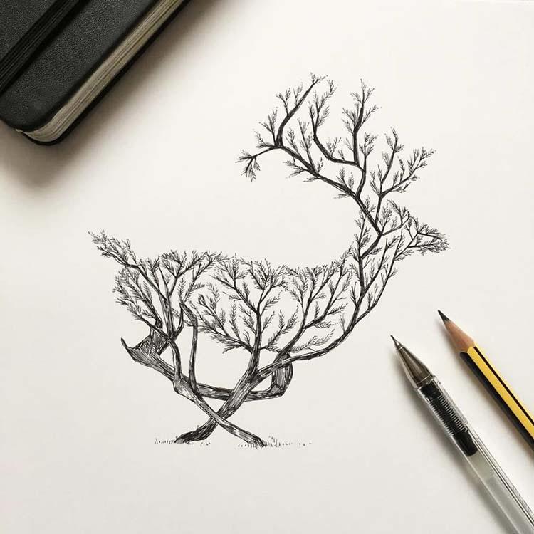 Wonderful-Black-Pen-Illustrations