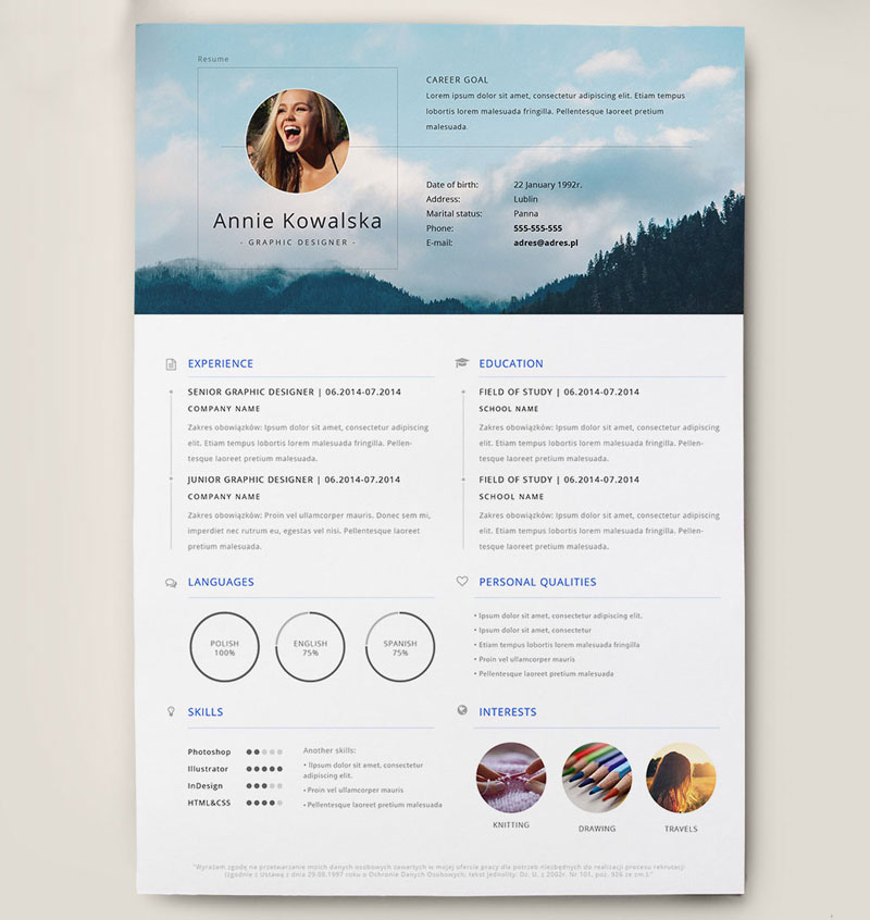 best free clean resume templates in psd ai - Great Resume Templates Free