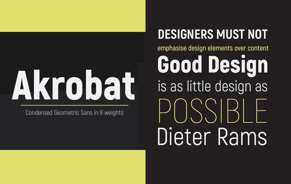 Akrobat - Simple Free Sans Serif Font