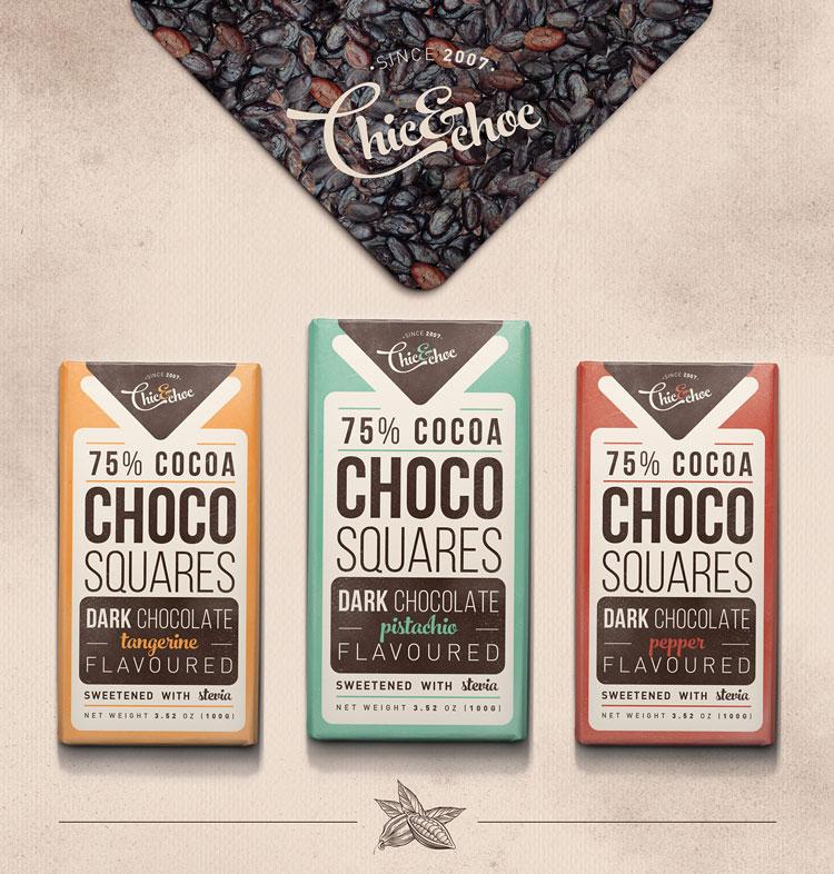 Chocolate Retro Packaging Design