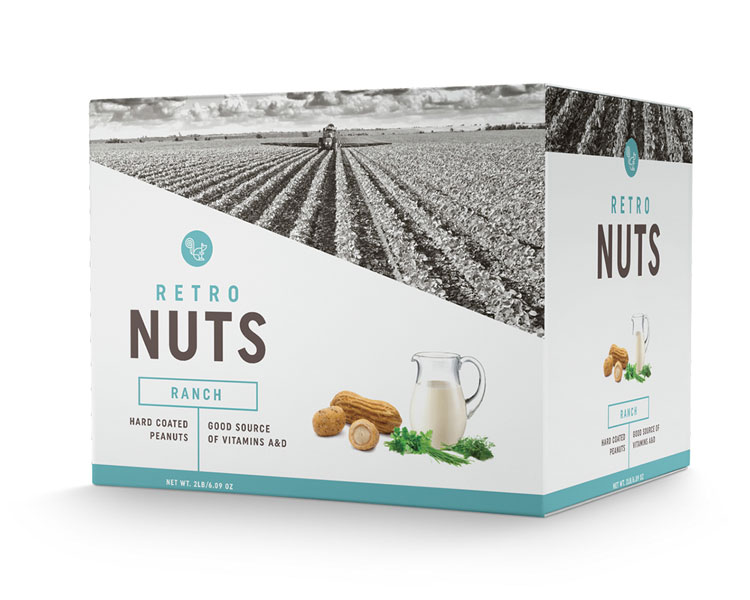 Nuts Brand Retro Packaging Design