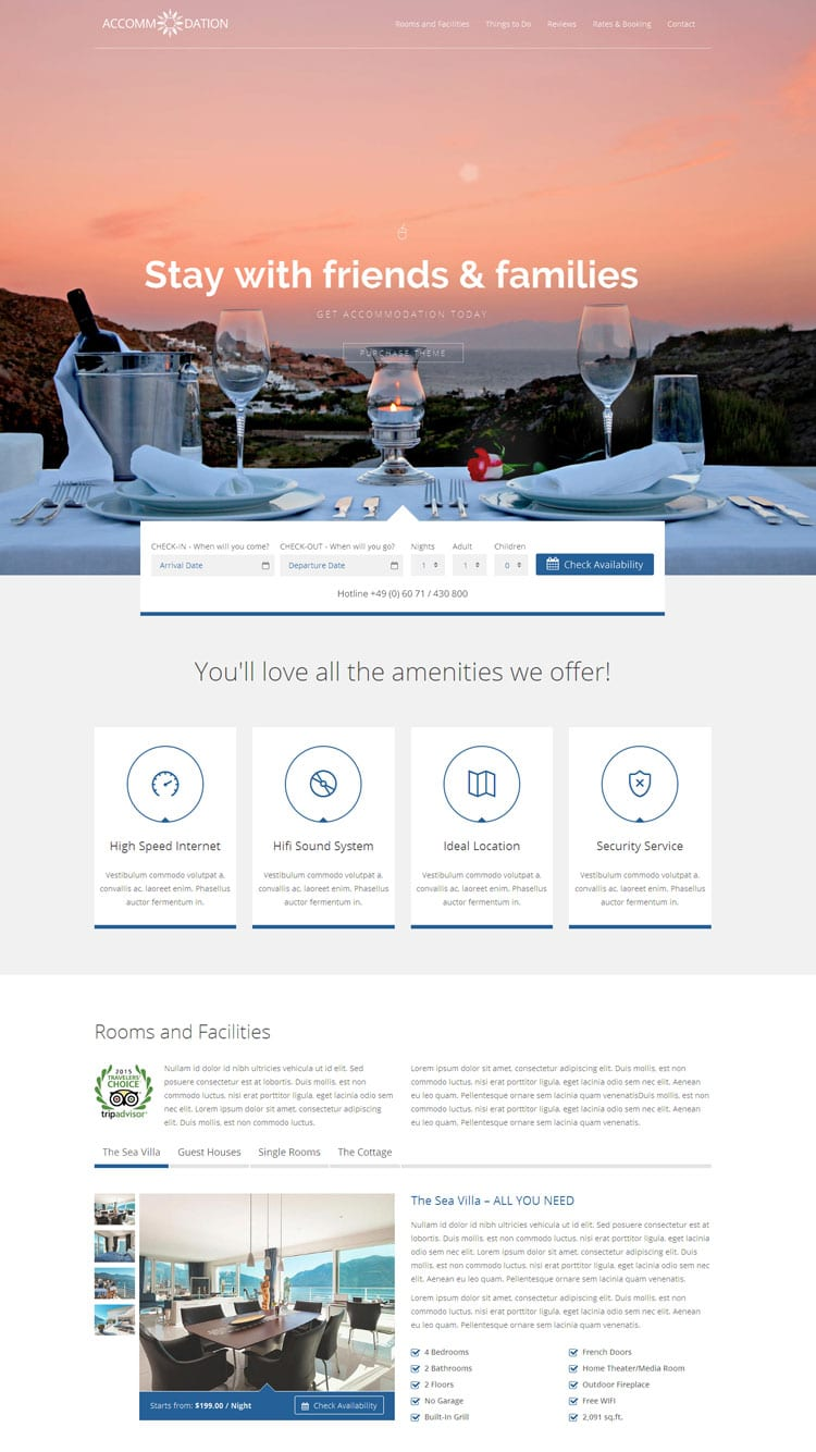 Best Hotel Reservation WordPress Themes