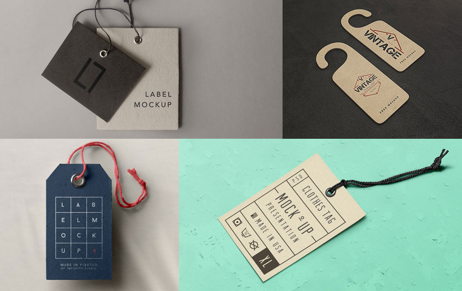 15 Free PSD Label and Tag Mockups to Enhance Your Designs