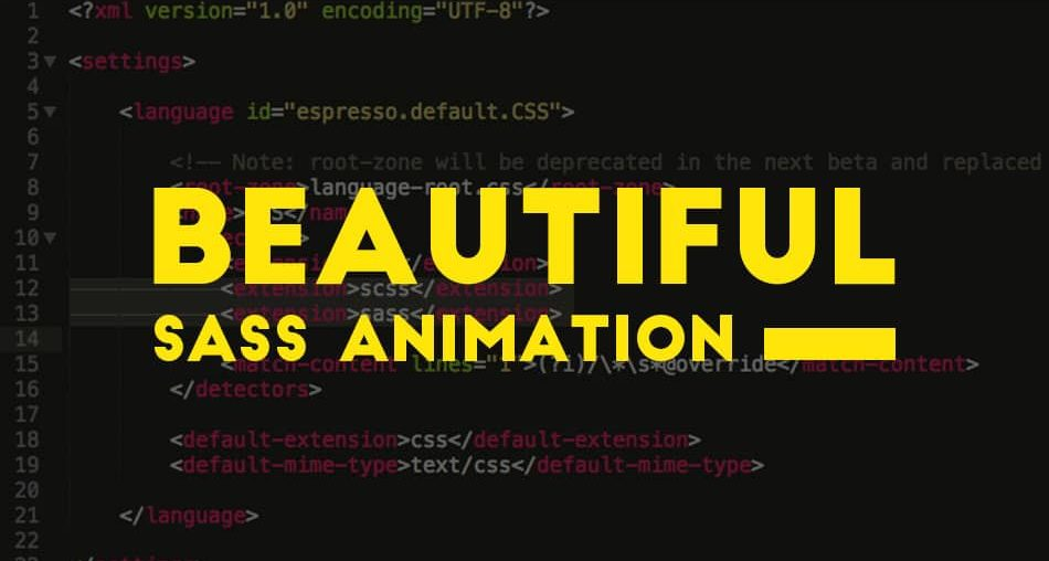 Beautiful CSS3 Sass Animation and Transitions