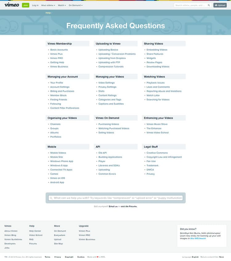 build faq page