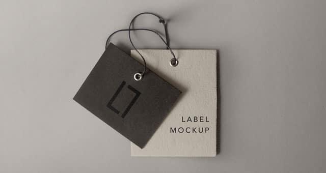 Free PSD Label Mockup