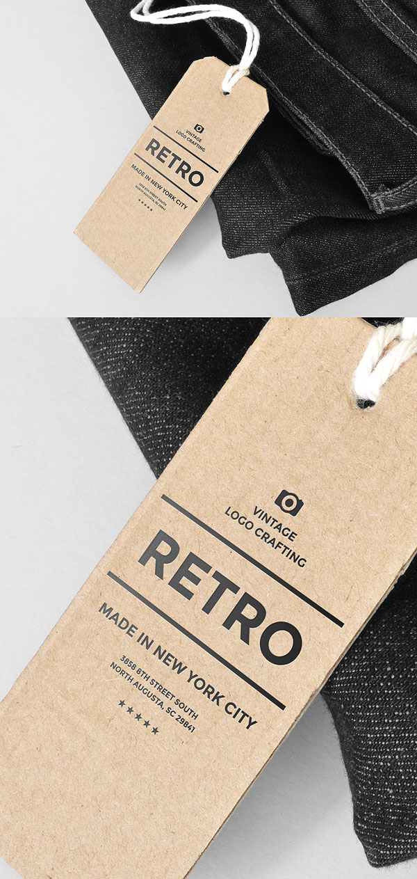 Free PSD Label and Tag Mockups
