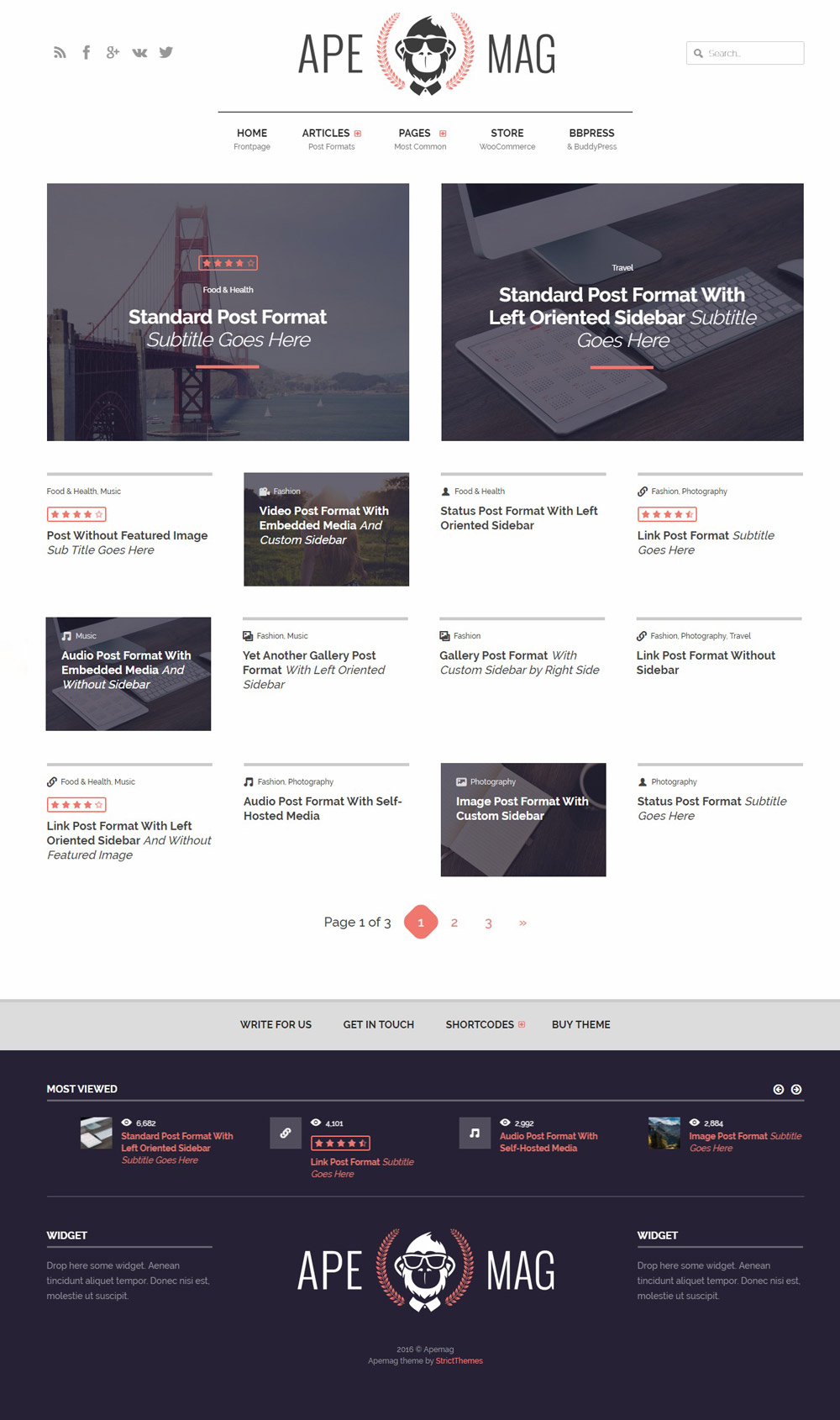 Apemag - Stylish WordPress Theme Adsense Optimized