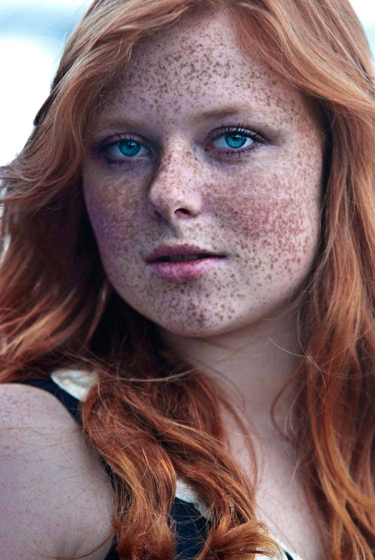 beautiful Freckled Redhead Portrait Photography