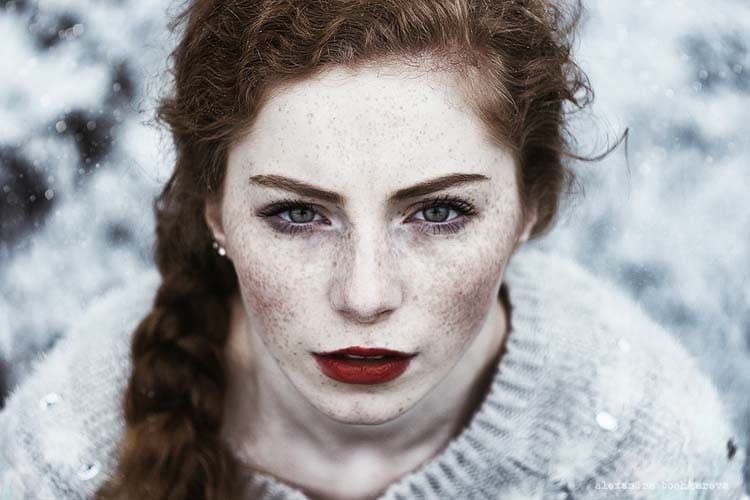 Attrictive Freckled Redhead Portrait Photography