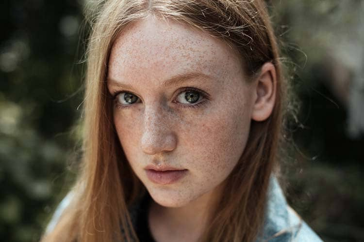 Gorgeous Freckled Redhead Portrait Photography