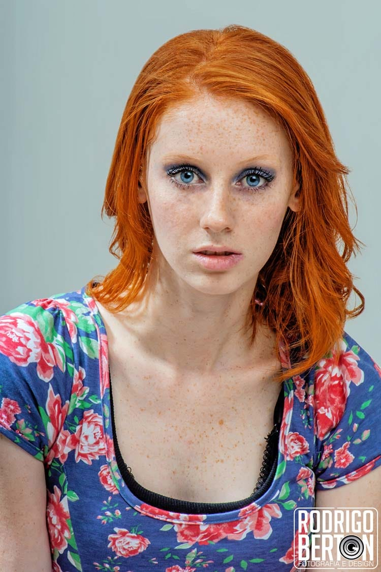 Freckled Redhead Portrait Photography