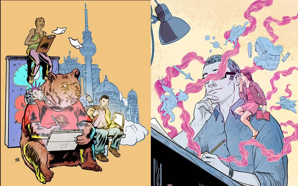 Digital Illustrations for Magazines