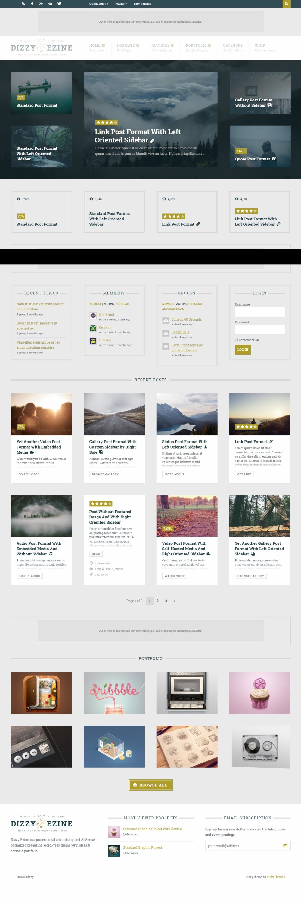 DizzyMag - Ad&Review WordPress Theme
